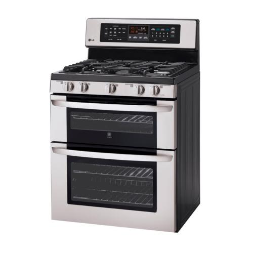 LDG3017ST 6.1 Cu. Ft. Capacity Gas Double Oven Range With Infrared Grill And Easyclean